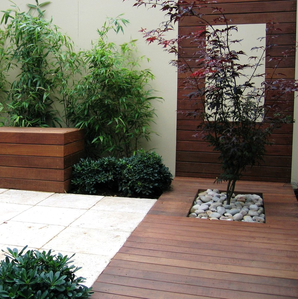 Modern courtyard garden design ideas home trendy for Courtyard landscaping