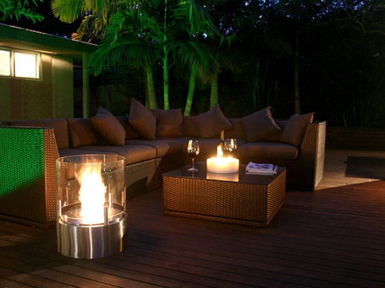 new outdoor portable fireplace design by ecosmart fire. Black Bedroom Furniture Sets. Home Design Ideas