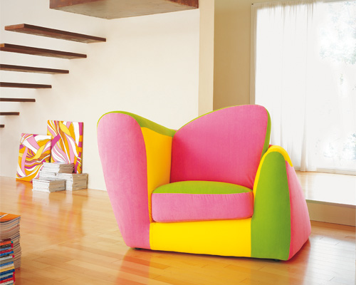 Beautiful Living Room Interior With Colorful Furniture