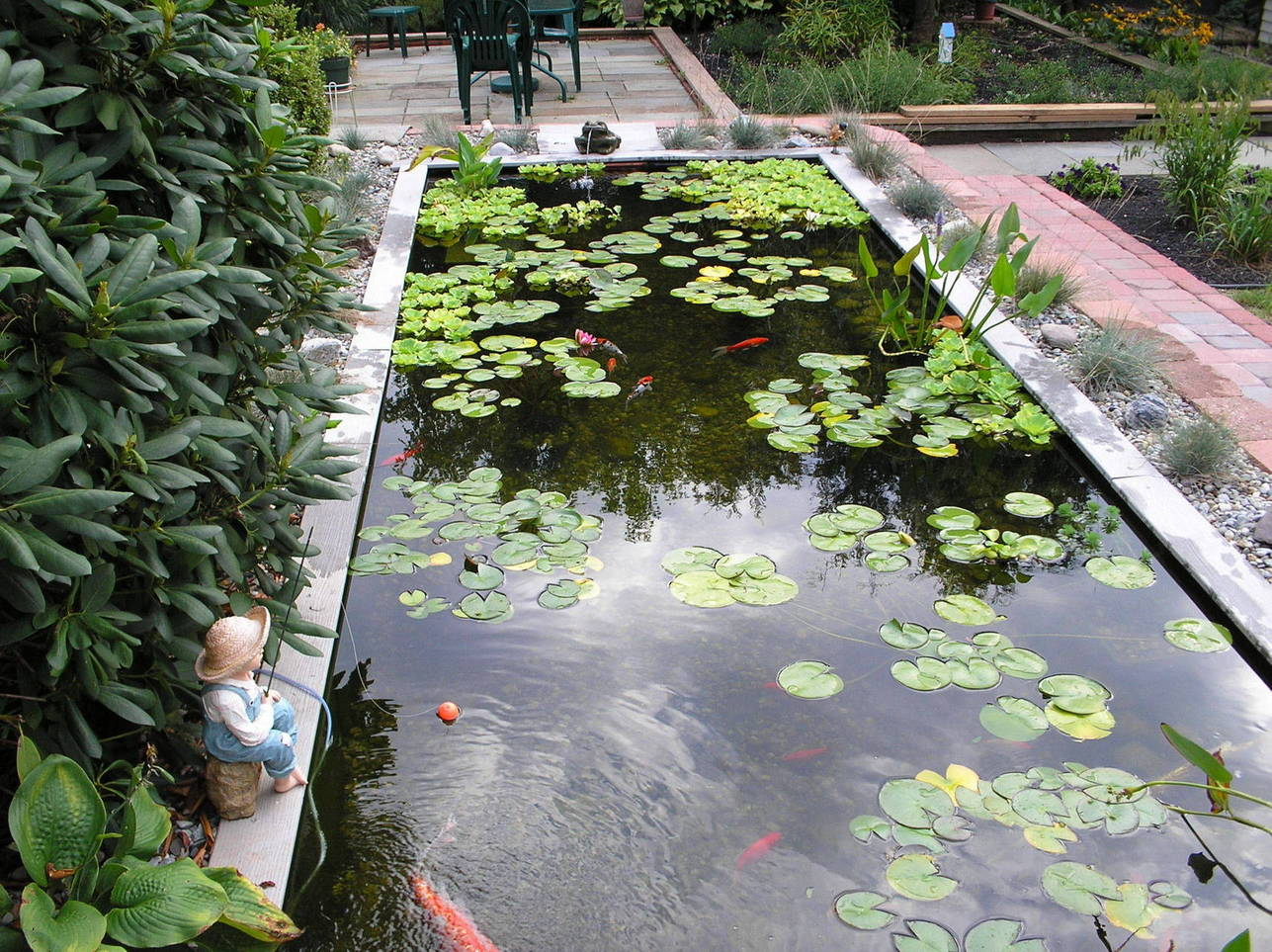 Big koi fish pond design ideas home trendy for Small garden fish pond designs