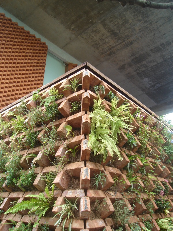 Bricks Vertical Garden Design Home Trendy