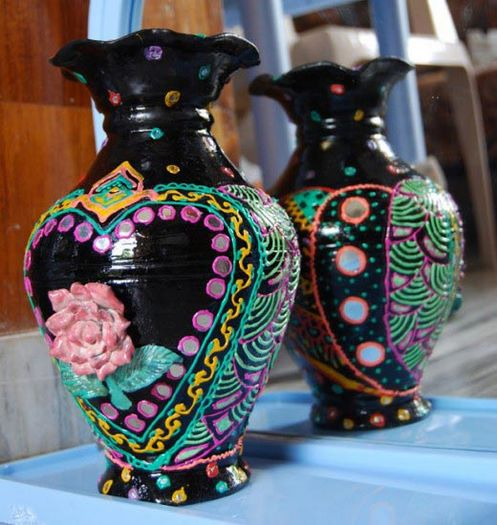 Ceramic flower vase designs ideas home trendy for Ceramic vase ideas