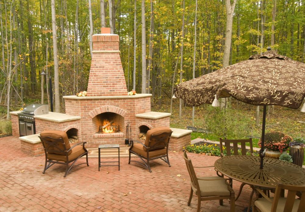 Chiminea Outdoor Fireplace Design Ideas | Home Trendy on Outdoor Fireplace Decorations id=69174