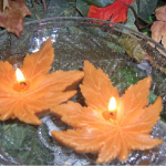 japanese maple leaf floating pool candles design ideas