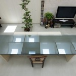 living room in daylight house by takeshi hosaka