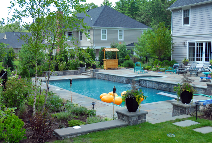 Minimalist rectangular swimming pool design ideas home for Pool decor design