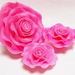 pink rose floating pool candles design ideas