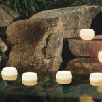 simple floating pool candles design ideas