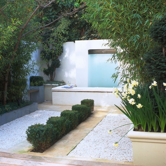 small garden design ideas with pebbles