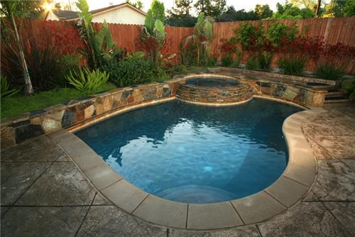 Small inground swimming pool home trendy for Small inground swimming pools