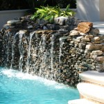 small swimming pool fountain design ideas