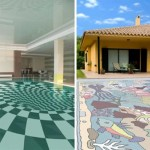 swimming pool decorating ideas with animal mosaic glass