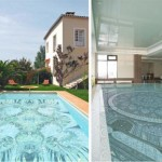 swimming pool decorating ideas with awesome mosaic glass