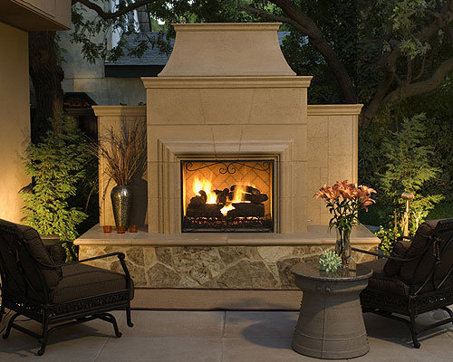 Wood Burning Outdoor Fireplace Design Ideas
