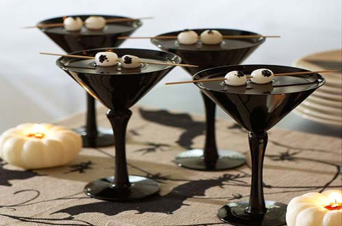 Black Cocktail Halloween Party Decorations