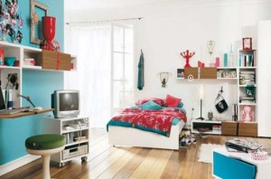 Blue Bedroom Design for Teen
