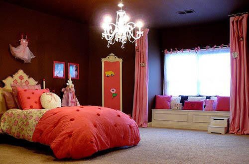pink and brown bedroom home trendy