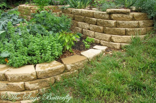 Slope garden design ideas with pathway