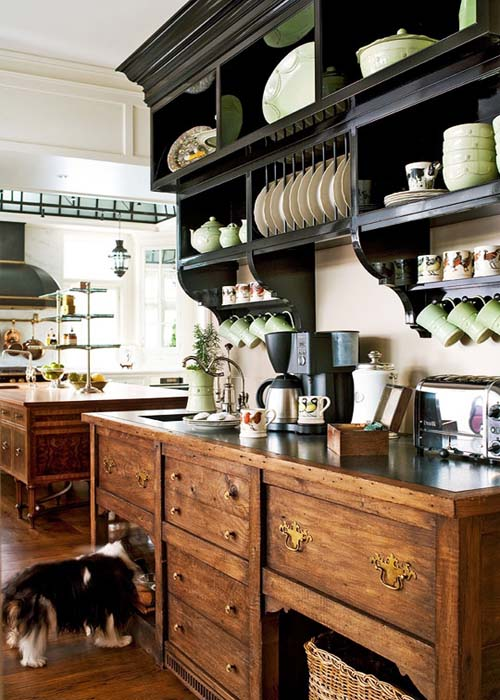 Traditional Kitchen Layout by Joan Nemirow