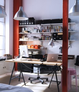 comfortable workspace lighting photos