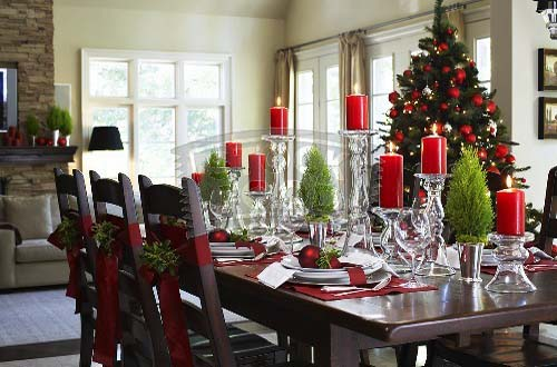 Dining Table Decorating Ideas Christmas Dining Table Decorating Ideas ...