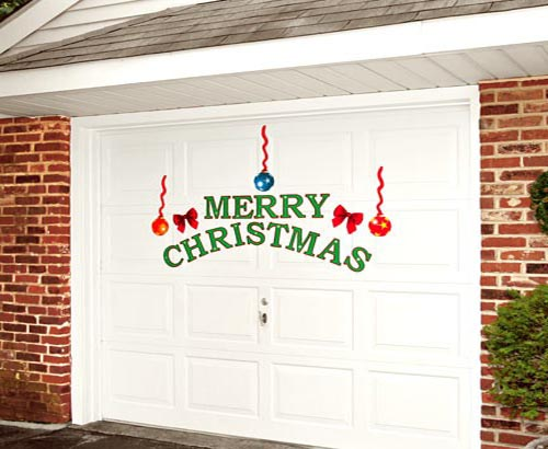 Christmas garage door decor ideas pictures for Christmas garage door mural