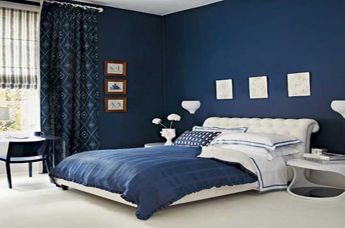 Dark blue bedroom decorating ideas home trendy for Bedroom ideas dark blue