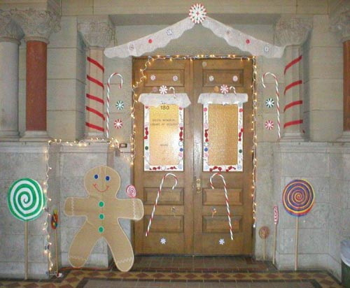 Funny Christmas Door Decorating Ideas Home Trendy