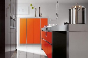 Grifflos Orange Kitchen Design
