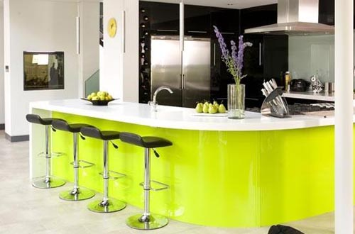 Lime green kitchen design ideas home trendy Modern green kitchen ideas
