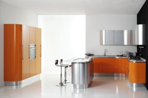 Modern Orange Kitchen Design