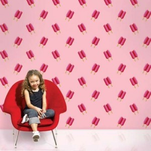 Red Ice Cream Wallpaper Ideas for Kids Room