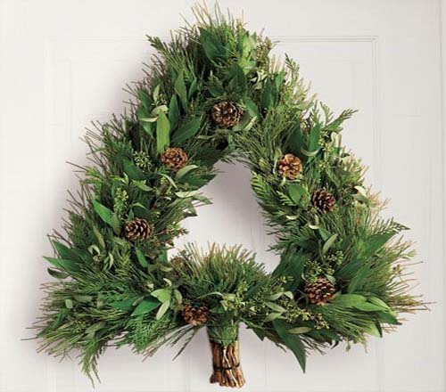 Christmas wreath ideas home trendy - Awesome christmas wreath with homemade style ...