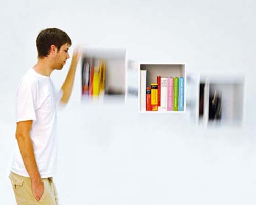 Wall Bookshelf Designs by Christian Kim