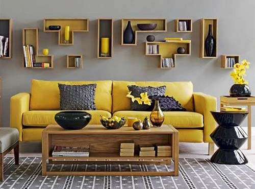 Yellow and Grey Decorating Ideas