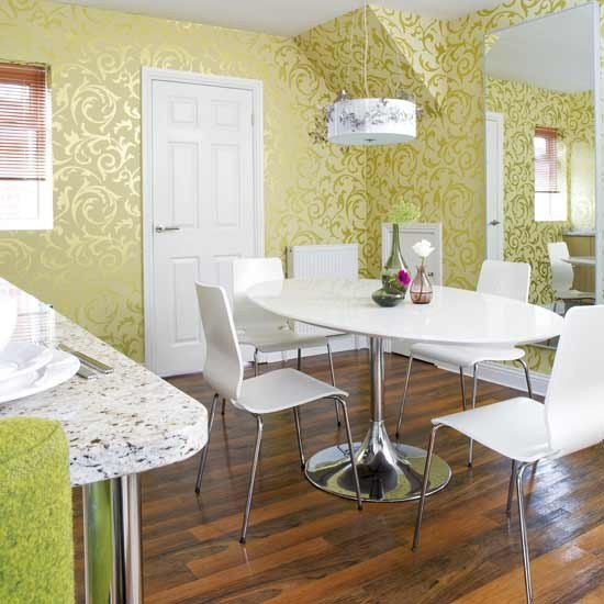 Green dining room decor idea 2017 2018 best cars reviews for Dining room decorating ideas 2012