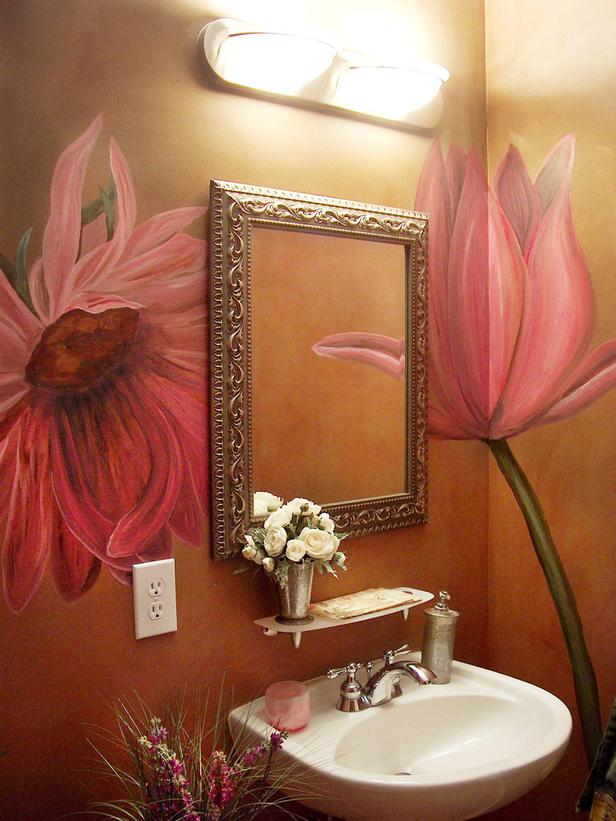 floral bathroom sinks