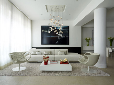 modern minimalist interior living room