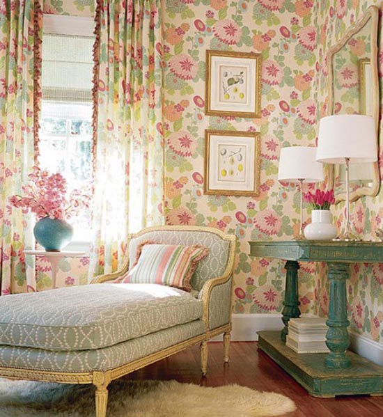 Vintage floral bedroom ideas
