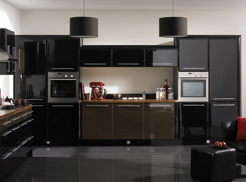 Black kitchen cabinets design ideas home trendy - Black kitchen cabinets ideas ...