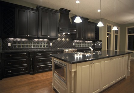 black kitchen cabinets images