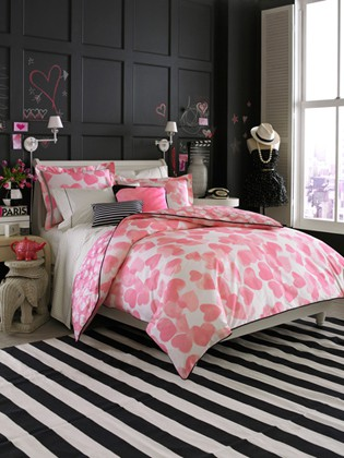 black white and pink bedroom decorating ideas