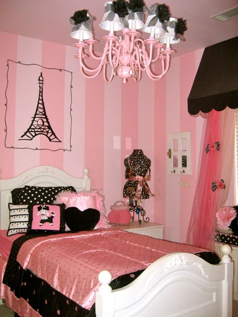 Black white and pink bedroom ideas home trendy - Black and red bedroom designs ...