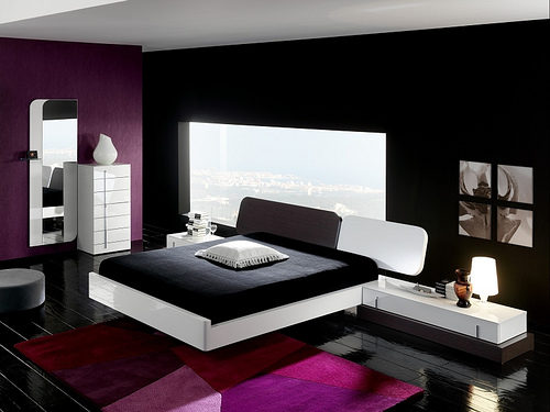 black white and pink bedrooms Black White and Pink Bedroom Ideas