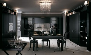 classic black interior design