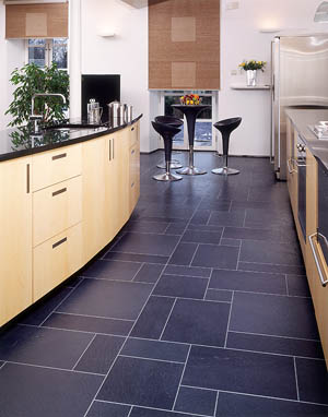 Modern kitchen flooring home trendy for Modern kitchen tile flooring