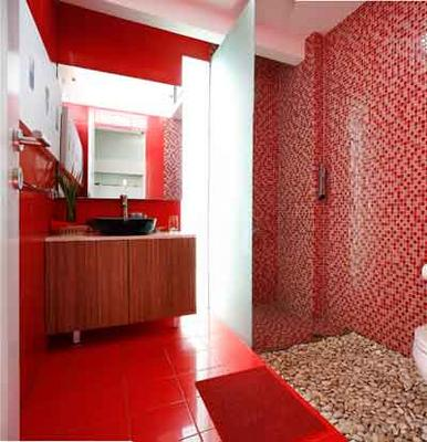red bathroom decorating ideas