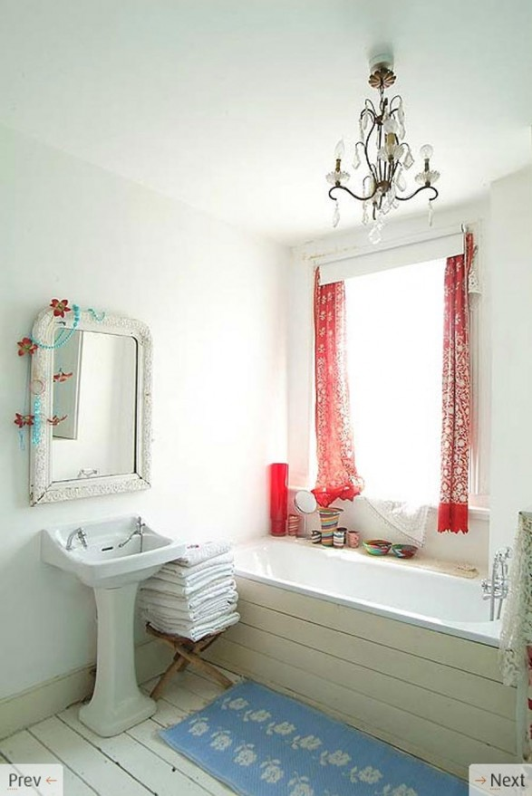 Red Bathroom Decorating Ideas Home Trendy