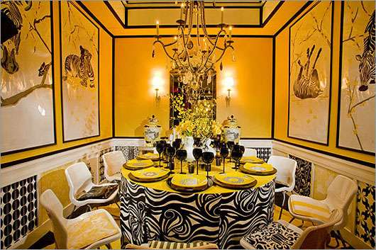 Yellow Black Interior Design Home Trendy