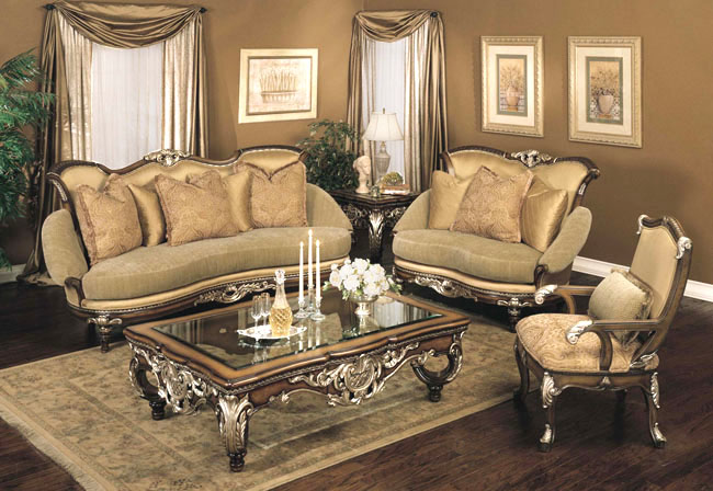 Elegant living room home trendy for Elegant living room furniture